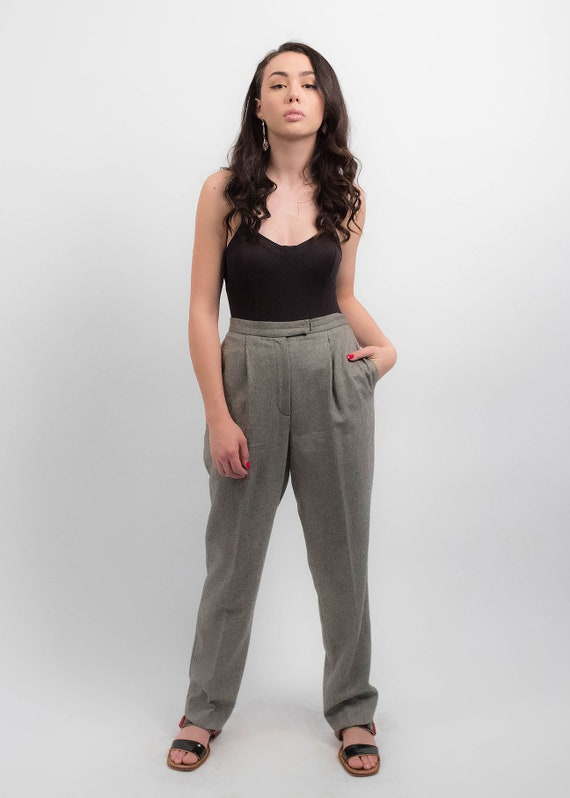 RALPH LAUREN Wool Trousers. Vintage High-Waisted … - image 6