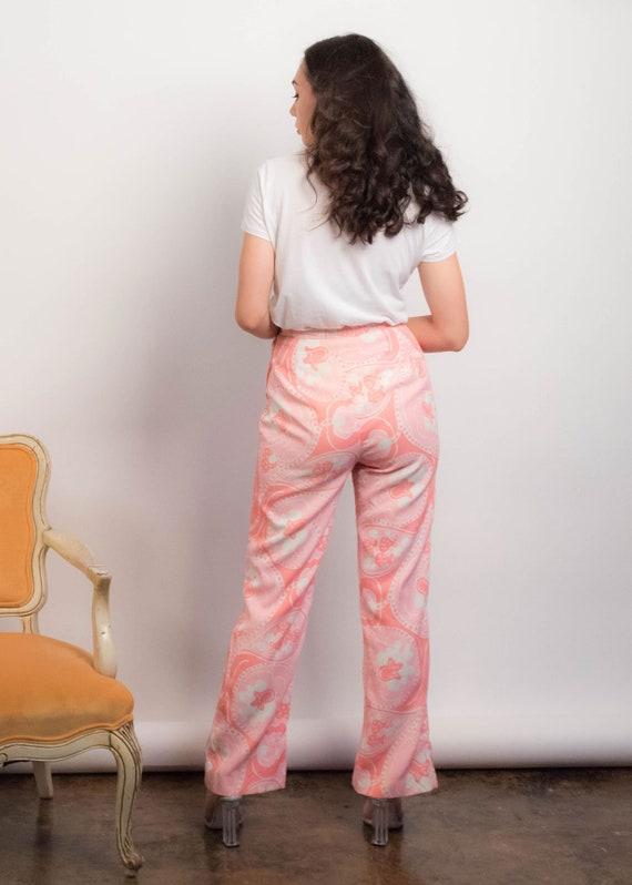 60s PAISLEY Pants. Vintage Wide-Leg Pants. 60s Pr… - image 8