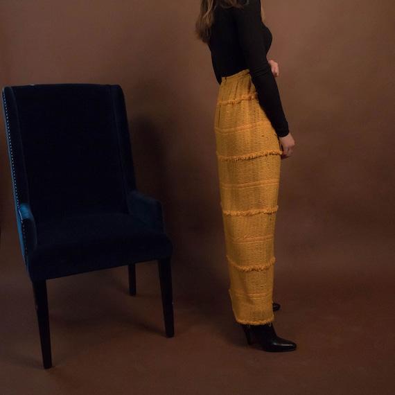 Bohemian Maxi Skirt. Boho 60s Maxi Skirt. Woven F… - image 9