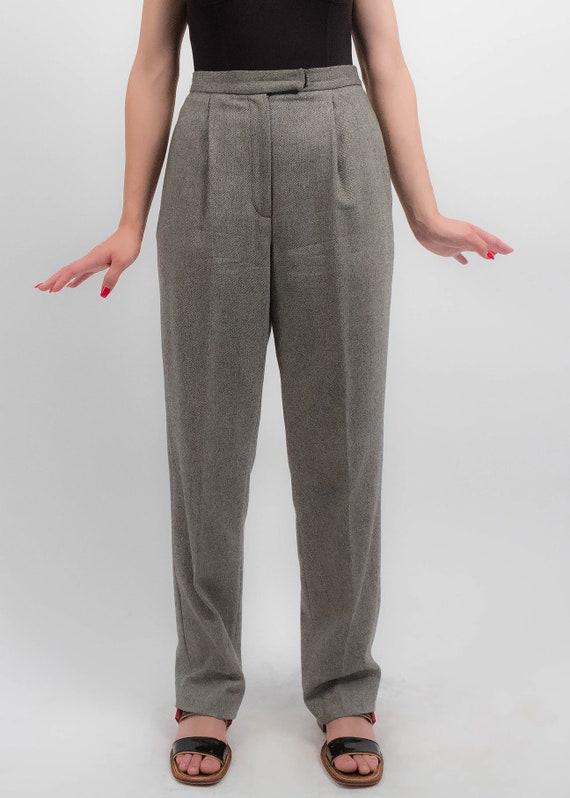 RALPH LAUREN Wool Trousers. Vintage High-Waisted … - image 3