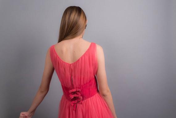 50s TULLE Dress. Vintage 50s Dress. 50s Prom Dres… - image 2