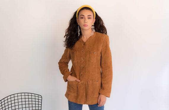 Vintage 60s Suede Safari Jacket size S/M