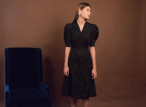 40s Floral Dress. Vintage 40s Dress. 40s Floral R… - image 10