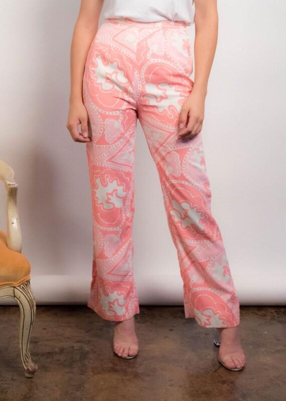 60s PAISLEY Pants. Vintage Wide-Leg Pants. 60s Pr… - image 3