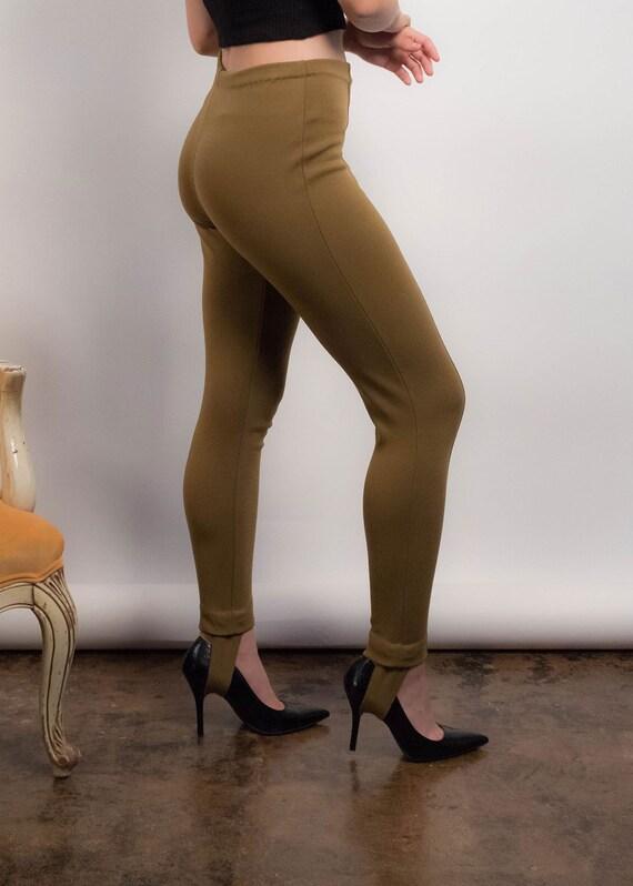 50s Knit STIRRUP Pants. Vintage 50s Pants. Vintag… - image 9