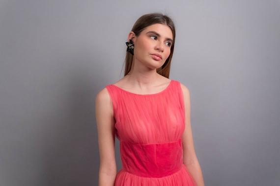 50s TULLE Dress. Vintage 50s Dress. 50s Prom Dres… - image 10