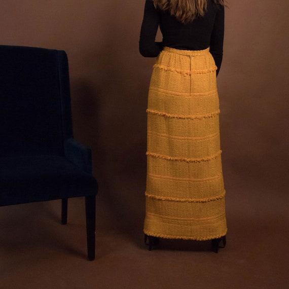 Bohemian Maxi Skirt. Boho 60s Maxi Skirt. Woven F… - image 8