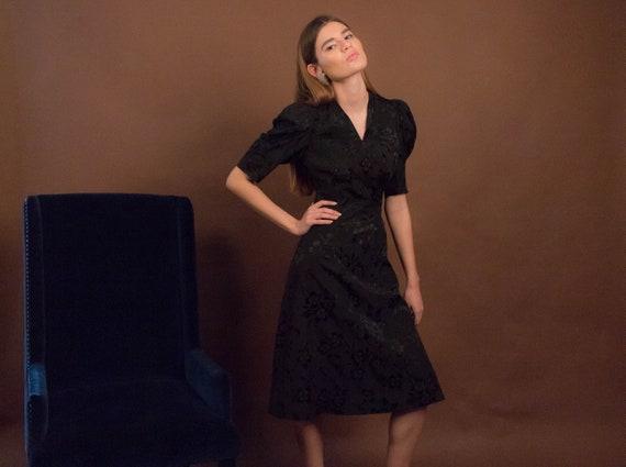 40s Floral Dress. Vintage 40s Dress. 40s Floral R… - image 6