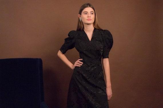 40s Floral Dress. Vintage 40s Dress. 40s Floral Ra