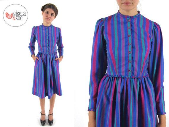 robe vintage des ann es 70 ray robe robe vintage lanz. Black Bedroom Furniture Sets. Home Design Ideas