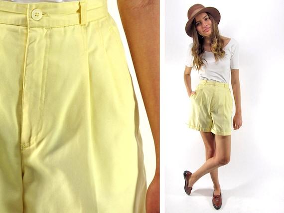 SALE - 80s High-Waist Pleated Shorts, Tailored Sho