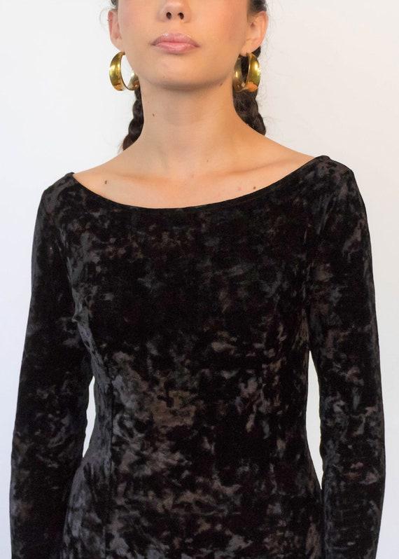 CRUSHED Velvet Maxi Dress. Vintage 90s Dress. 90s… - image 2
