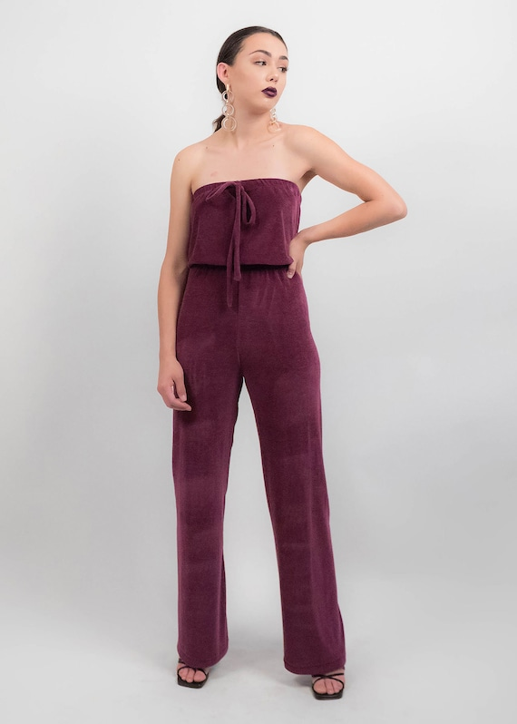 70s Terry-Cloth JUMPSUIT.  Wide-Leg Jumpsuit. 70s… - image 6