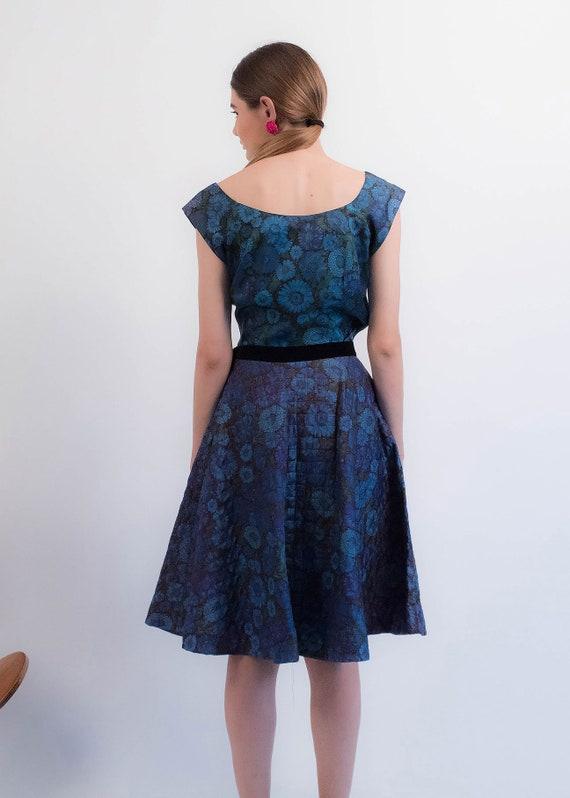1950s Floral QUILTED Skirt. Vintage 50s Floral 2 … - image 8