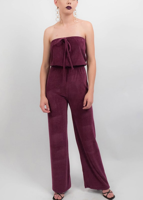 70s Terry-Cloth JUMPSUIT.  Wide-Leg Jumpsuit. 70s… - image 3