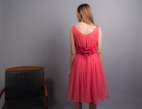 50s TULLE Dress. Vintage 50s Dress. 50s Prom Dres… - image 8