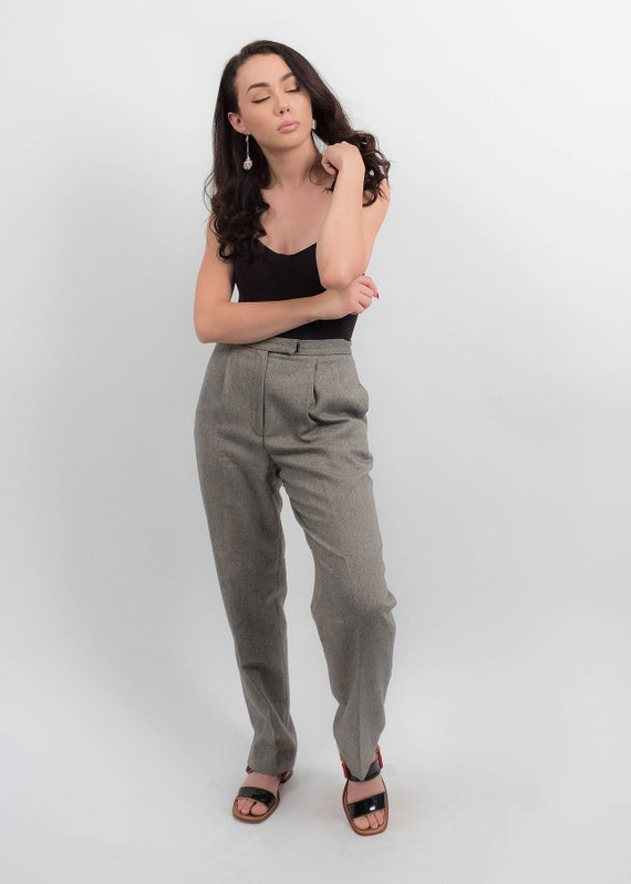 RALPH LAUREN Wool Trousers. Vintage High-Waisted … - image 4