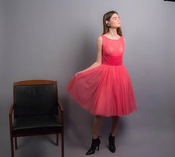 50s TULLE Dress. Vintage 50s Dress. 50s Prom Dres… - image 5