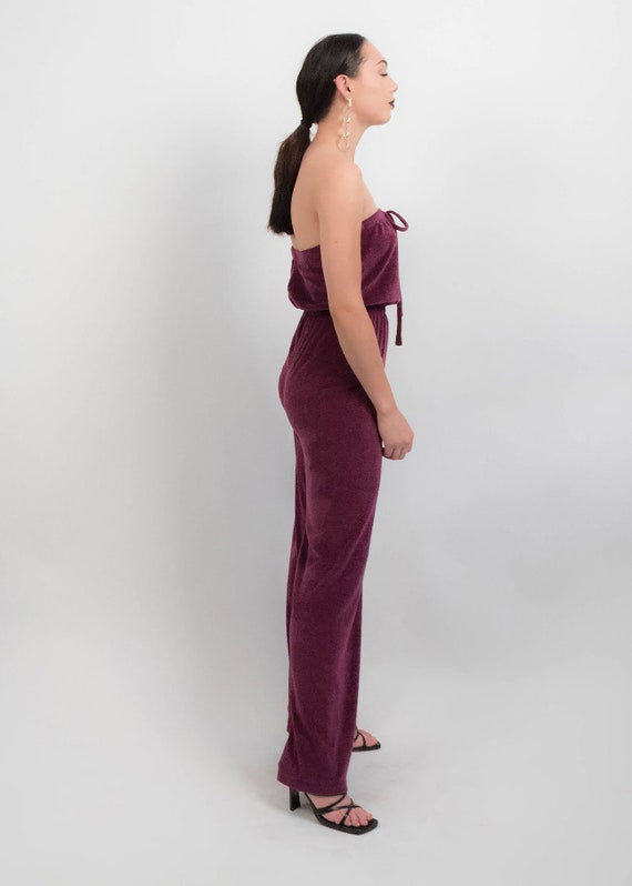 70s Terry-Cloth JUMPSUIT.  Wide-Leg Jumpsuit. 70s… - image 9