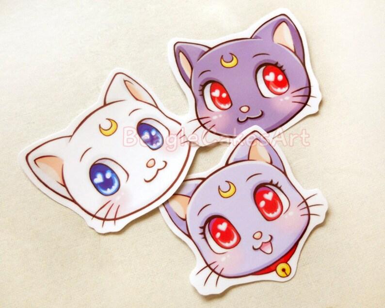 Sailor Moon Gatti Adesivi Sailor Moon Sticker Adesivi Etsy