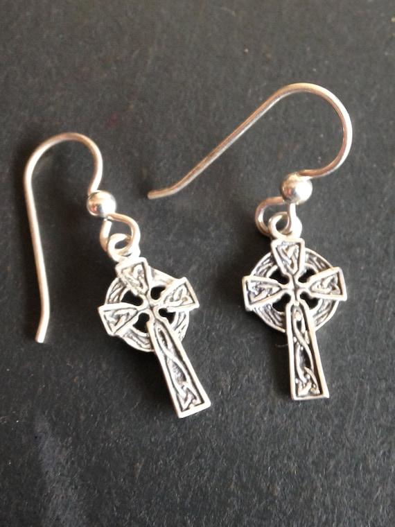 e0407289d Celtic Cross Celtic Knot earrings / sterling silver / celtic | Etsy