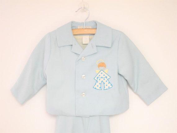 Vintage Baby Clothes, 1970's Saks Fifth Avenue Blu