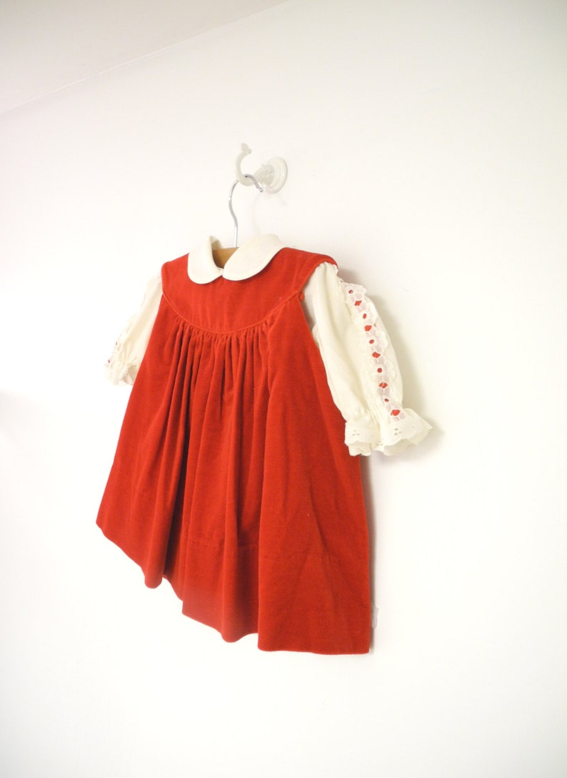 ff984146a139 Vintage Baby Clothes 1970 s Saks Fifth Avenue Red Velvet