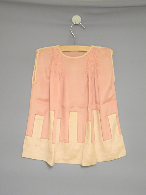 Vintage Baby Clothing | 1920's Sleeveless Pink Sil