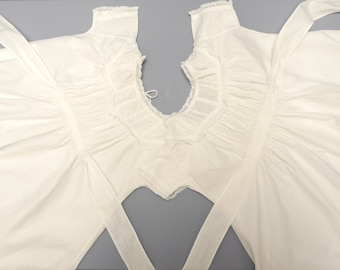 Vintage Baby Clothes, 1880's Rare Handmade Twin White Christening Gowns, Vintage Twins Christening Gowns, Size 6 Months