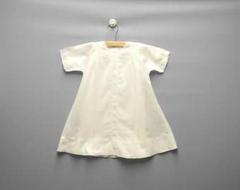 Vintage Baby Clothes, 1940's Handmade White Embroidered Baby Girl Christening Gown Set, Vintage Christening Gown, Size 9-12 Months