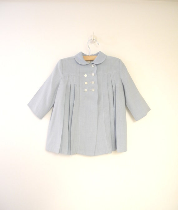 Vintage Baby Clothes, 1940's Powder Blue and Ivory