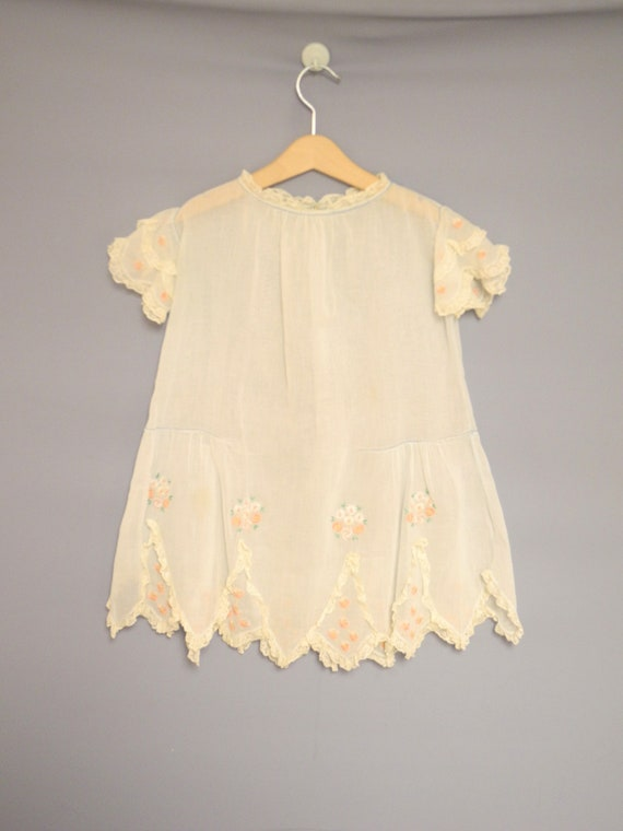 Vintage Baby Clothing | 1920's Light Blue Cotton B