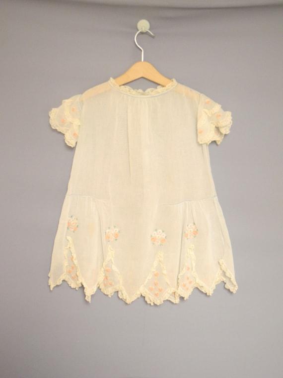 Vintage Baby Clothing | 1920's Light Blue Cotton B