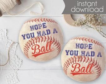 Baseball Favor Tags - Baseball Stickers - Baseball Printable - Baseball Birthday Party or Baby Shower - Instant Download