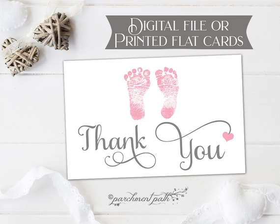 Classic Baby Girl Thank You Cards Baby Shower Thank You