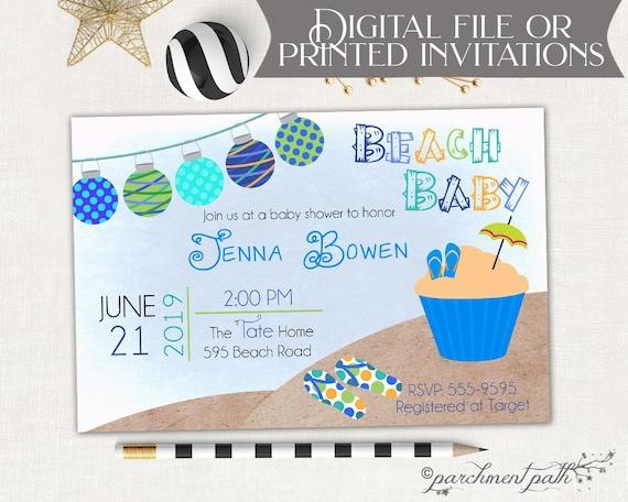 feab29549 Beach Baby Shower Invitation Summer Baby Shower Boy Baby