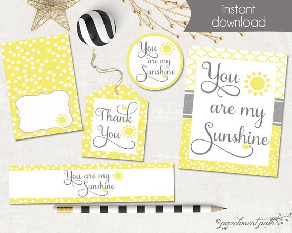 photo about You Are My Sunshine Printable identified as Yourself Are My Solar Printable Occasion Fastened - Want Tags, Social gathering