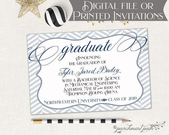 Graduation Announcement College Graduation Invitation High