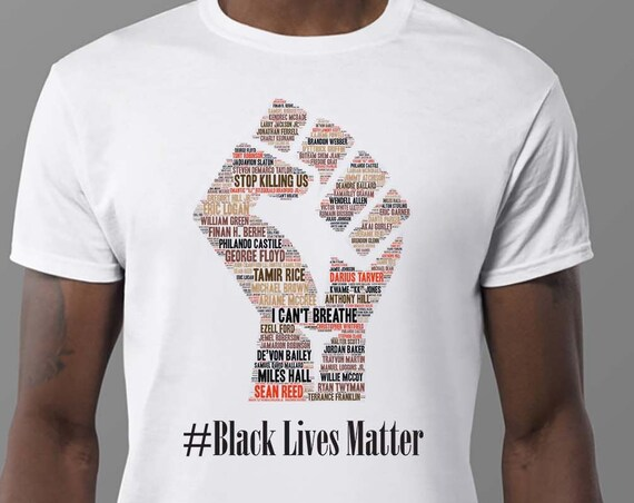Black Lives Matter, African American Graphic Tee, Racial Equality