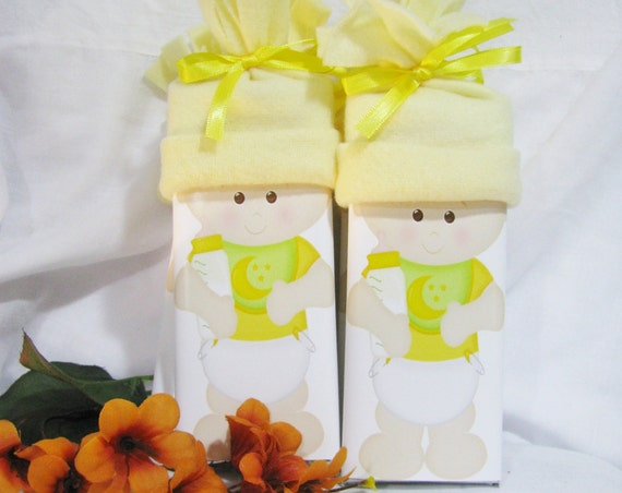 Personalized Baby Shower Favor Custom Baby Shower Favors Yellow