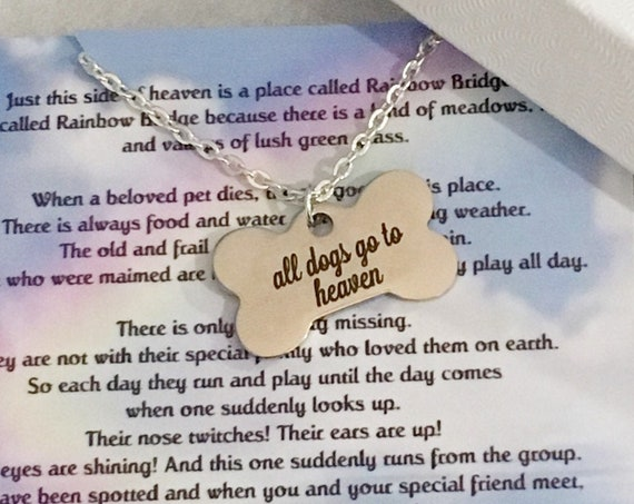 Pet Memorial Necklace, Dog Memorial, Pet Loss, Gift for Women, Gift for Her, Gift for Girlfriend