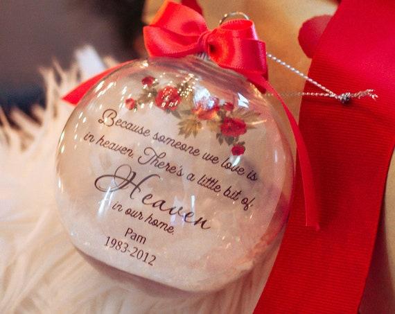Memorial Ornament, In Loving Memory,  Christmas Gift for Mom