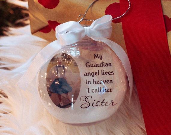 Memorial Ornament, Sister Memorial, Loss of Sister, Christmas, Daughter Gift