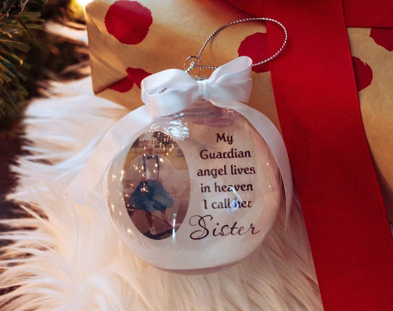 Personalized Memorial Ornament, Loss of Sister, Christmas, Gift for Friend