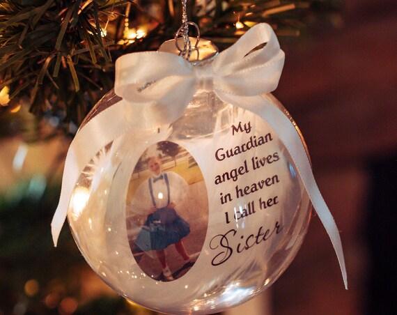 Memorial Gift, Memorial Ornament, Personalized, Gift for Sister