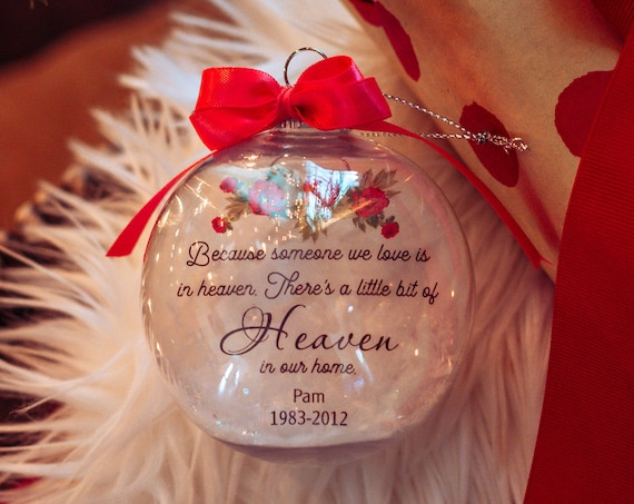 Memorial Ornament, Christmas Ornament, Christmas Gift, Loss of Dad, Loss of Mom, Gift for Women, Gift for Daughter, Gift for Mom