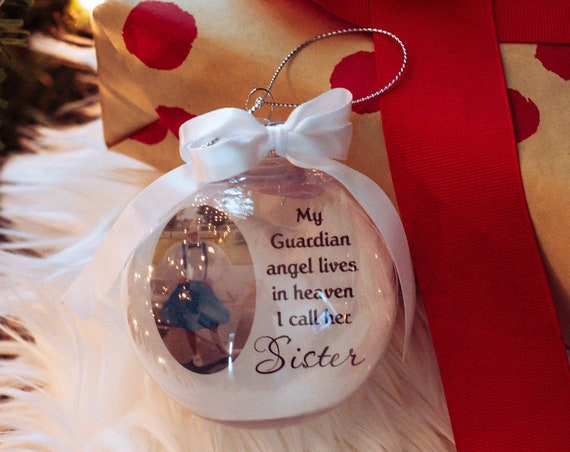Personalized Memorial Ornament, Loss of Dad, Christmas, Gift for Friend