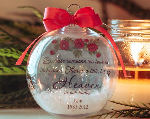 Christmas Memorial Ornament, Memorial Gift for Loss of Father