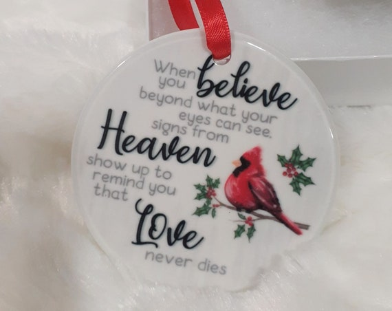 Memorial Christmas Ornament, Cardinal, Christmas Gift for Loss of Loved One