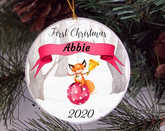 Babys First Christmas Ornament Personalized, Christmas, New Mom Gift